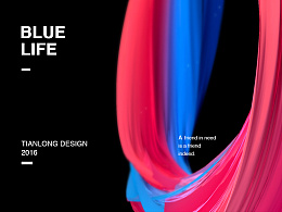 Blue life poster