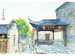 手绘城市系列——《西津渡》