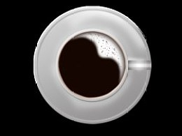 临摹的咖啡杯