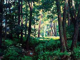油画作品《森呼吸》