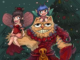 圣诞快乐X梦幻西游X多米猪