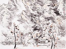 子木 水墨作品