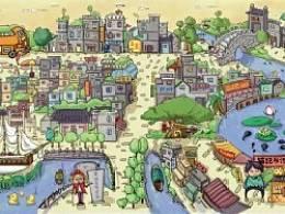 黄埔古港手绘美食攻略明信片exo的地图刺骨欲图片