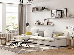 北欧简约风格系列之布艺沙发