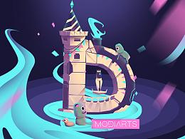 Modiarts-D盘的小插画!