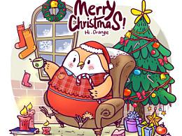 小橘又回来了~圣诞节贺图一枚