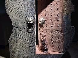手工意境木雕佳作开悟  非洲黄檀风化木 高135长100厚4