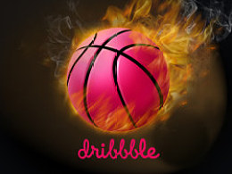 Dribbble with fire