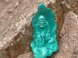 绿松石,达摩悟道,一叶一菩提