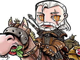 《巫师3》Q版卡通---狼叔