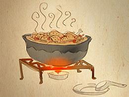 手绘食谱《姜母鸭》