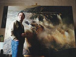 我和我的油画《壶口瀑布》