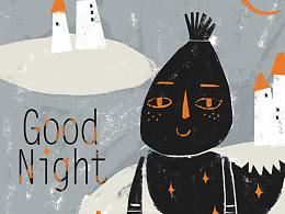 原创作品:原创作品:云朵工厂#说晚安吧#让我用插画,跟你说一句,晚安 第四更