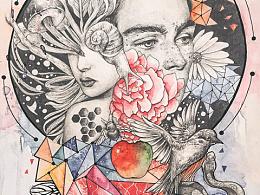 The garden of Eden-- Adam & Eve