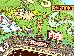 给搜狐体育做的一个小插画