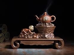 【铜师傅-作品】 禅茶(香炉)