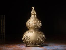 铜师傅 全铜挂件 《吉祥葫芦(16厘米)》家居 工艺品 装饰品