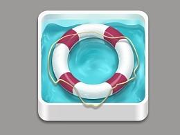 游泳圈图标练习