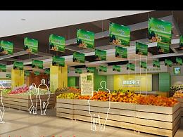 新鲜果子—成都水果店装修 成都水果店设计
