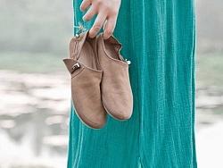 原创作品:【向日葵记忆】原创真皮手工单鞋 男女同款文艺牛皮休闲鞋