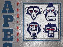 红眼猴 插画练习
