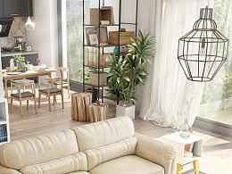 《春意Ⅱ》——春季主题系列作品第二季,真皮沙发、漂亮的室内空间设计,设计师之家  家具3D