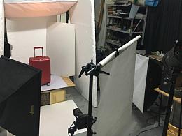 拉杆箱拍摄布光花絮及原图