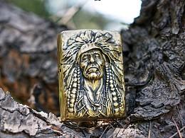 VULCAN•伏尔甘【印第安酋长•无畏】纯铜Zippo打火机