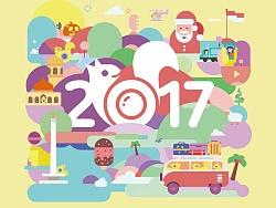2017年历插图设计