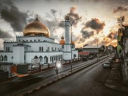 清真寺日出