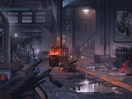 地铁废墟!!