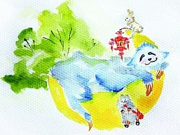 Howling的水彩画