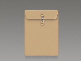 写实文件袋 办公档案袋