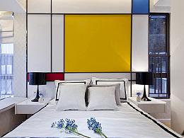 中国建筑设计奖作品:向蒙德里安致敬-保利三山西雅图样板房摄影