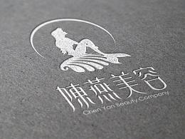 陈燕美容-字体设计-标志vi-美人鱼