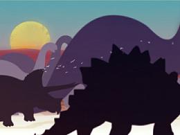 飞鸟插画-恐龙迁徙
