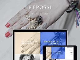 REPOSSI Web Design-品牌网站