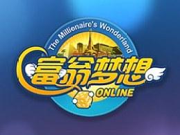 富翁梦想游戏logo界面ui设计