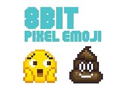 8bit像素小黄脸emoji表情