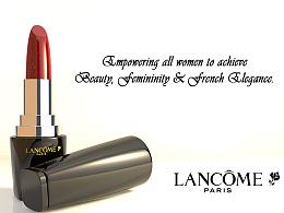 LANCOME兰蔻唇膏C4D建模平面广告(C4D,PS)让所有女性都能拥有美丽、魅力和法式优雅。