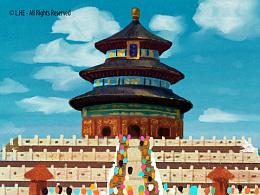 [多图] [插画] 北京旅游日记