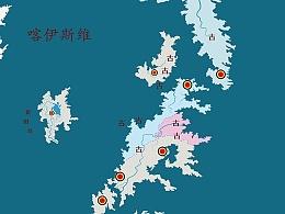手绘地图【洛栎砦】更新稿(未完稿)