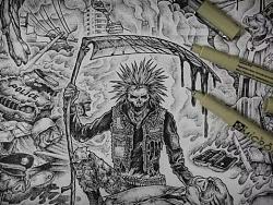 crust punk 专辑封面插画