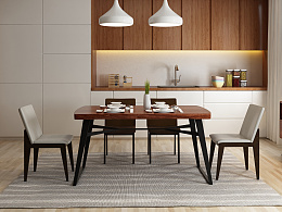 北欧风情实木餐桌