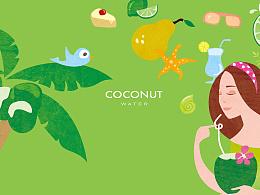 口渴拿TA椰子水运动饮料品牌体系设计-销量装