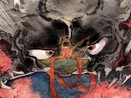 莲羊·造龙——韩彩小品《献祭》60cm见方