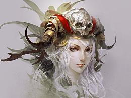 光翼学园女祭司头像教程(黄光剑)