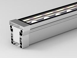LED 洗墙灯 3D建模 渲染