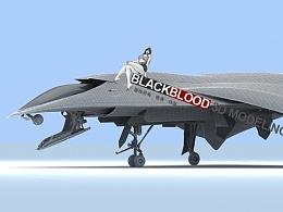 细节改进艾迪战机 用于3D打印