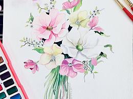 水彩花卉世界
